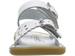 Ariel - Sandal   White, Soft Gold, Rose and Red Apple