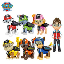 Load image into Gallery viewer, 12Pcs/set Paw patrol Rescue Dog Toy Ryder Everest Tracker Anime Action Figure Model Cake Decoration Toy Child Birthday Xmas Gift