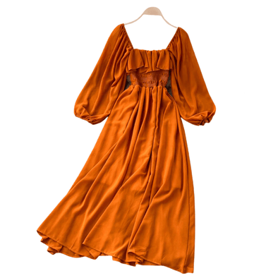 Julia Puff Sleeve Ruffled Maxi Dress