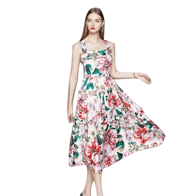 Alexandra Printed Floral Dress Runway