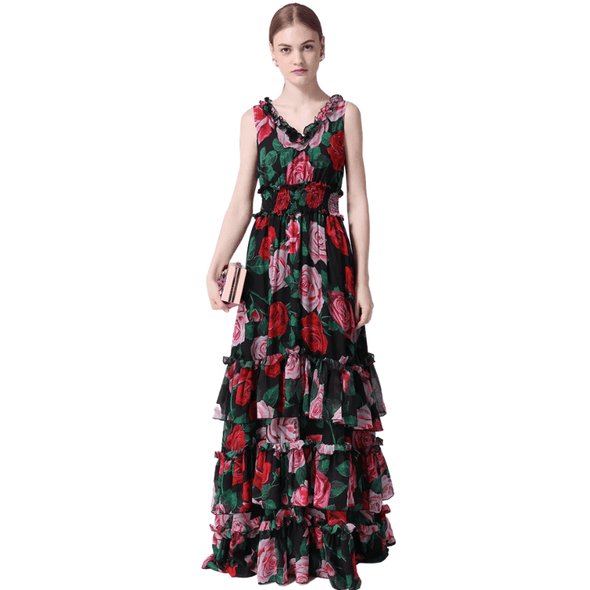 Valentine Runway Ruffled Dress