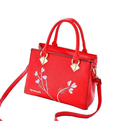 Retro  Woman's  Handbag Flower Design