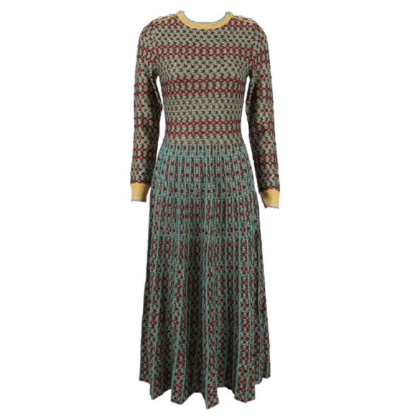 Italian Colorful Knitted Dress 2020 Runway