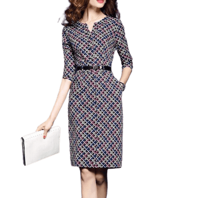 Plaid Pencil Dress
