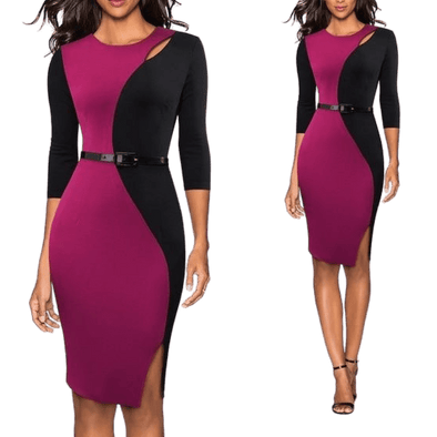 Women Empowered Skinny Business Casual Dress
