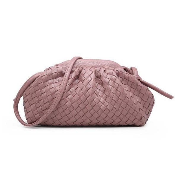Soft Woven Cloud Pouch Bag