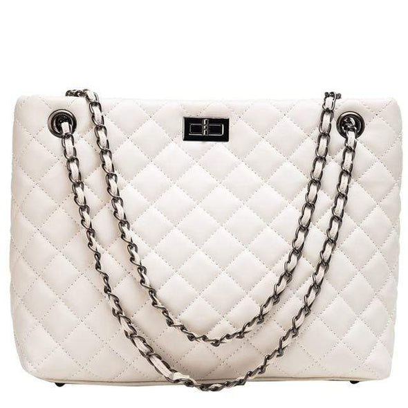 White Cherry Classic Luxury Shoulder Bag