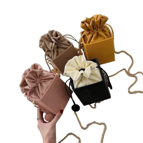 Drawstring Bucket Purse Bag