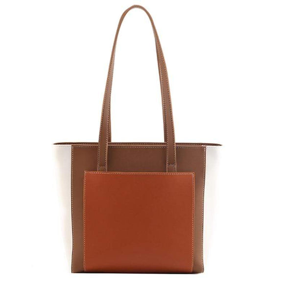 Brown Cassy Contrast Shoulder | Tote Bag