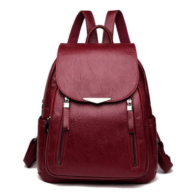 Burgundy Cassy Hot Casual Backpack