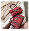 Red Alexis Classic Elegant Plaid Chain Handbag