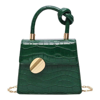 Green Rizzy Stone Pattern Handheld Bag