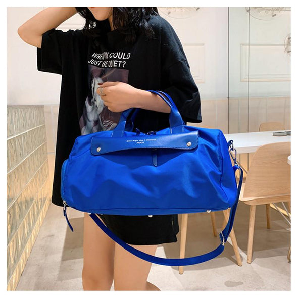 Nylon Waterproof Unisex Bag with Shoe Compartment for the Gym or Outdoors