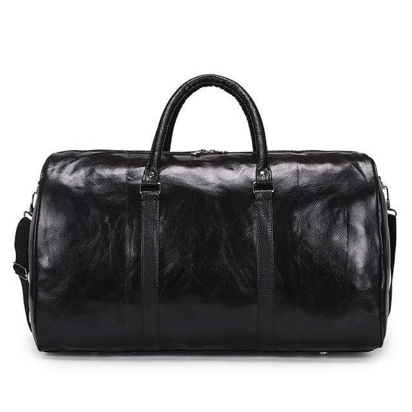 Professional, Classy, and Traditional Leather Look Travel Duffel Bag