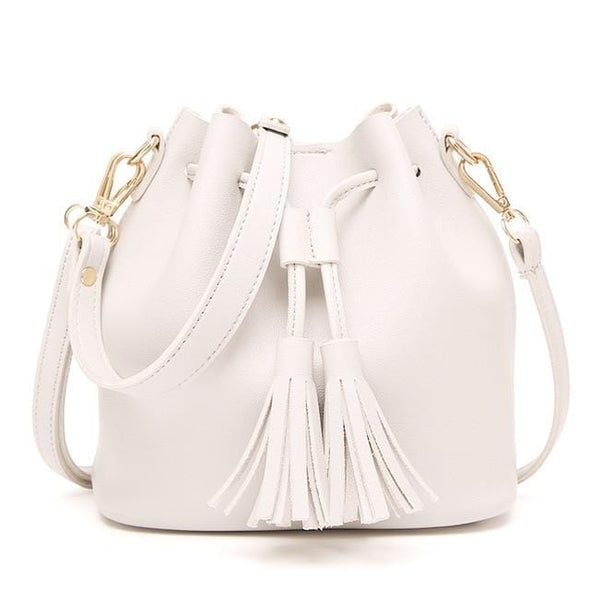 Bucket Vegan Drawstring Shoulder Bag