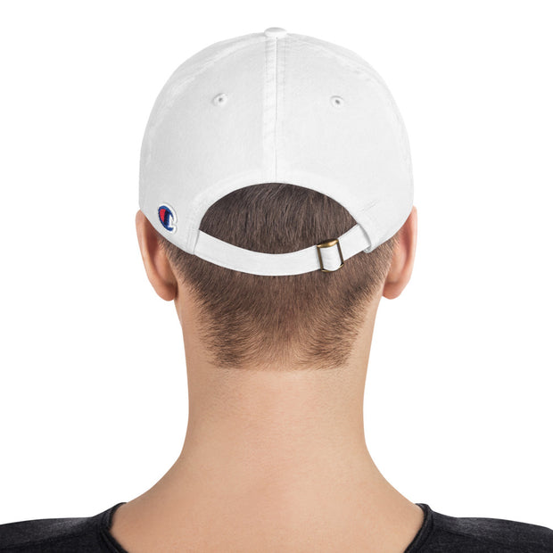 Gateway Guardians logo Champion® dad hat (white)