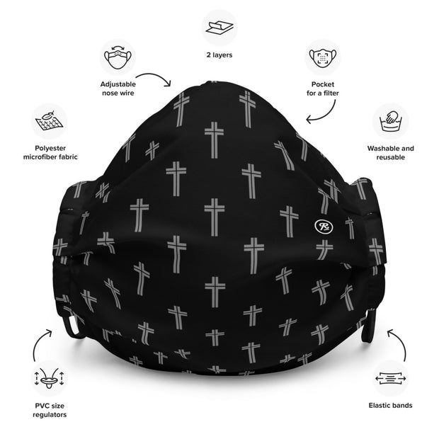 'The Cross' premium washable face mask (g/b)