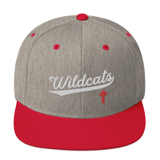 AMHS 'VNTG ATHL' snapback hat (heather grey/red)