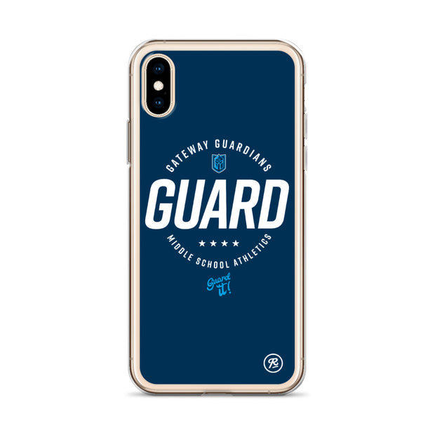Gateway 'Excellence' blue iPhone case