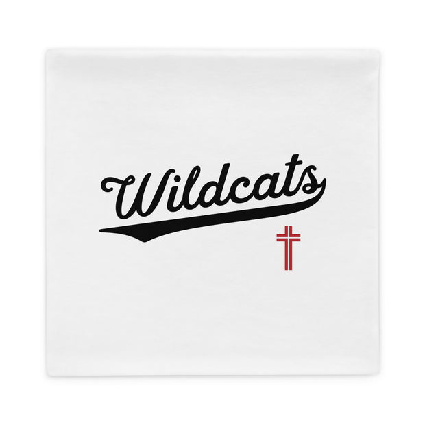 AMHS 'VNTG ATHL' white pillow case