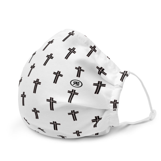 'The Cross' premium washable face mask (b/w)