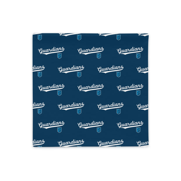 Gateway 'VNTG ATH' blue pillow case