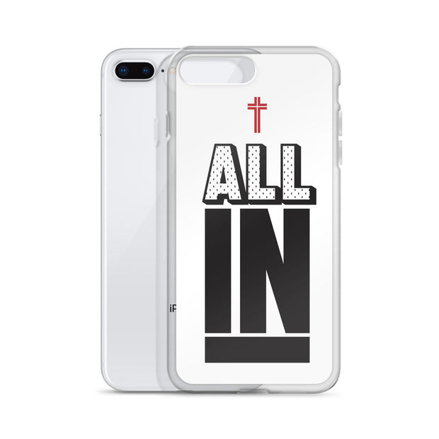 AMHS 'All In' white iPhone case