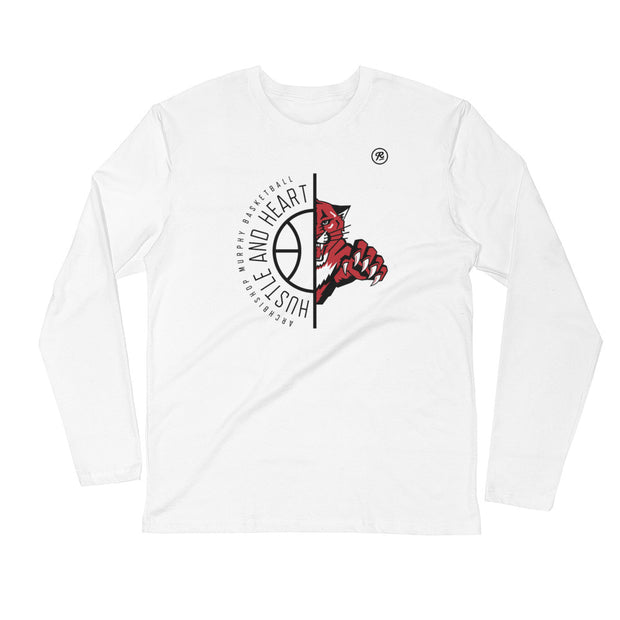 AMHS 'Hustle & Heart' Wildcat l/s fitted crew