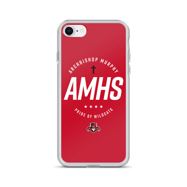 AMHS 'Excellence' red iPhone case