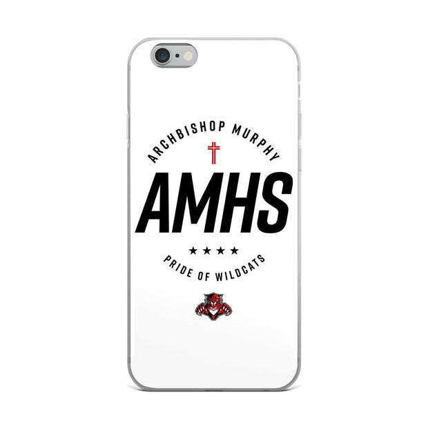 AMHS 'Excellence' white iPhone case