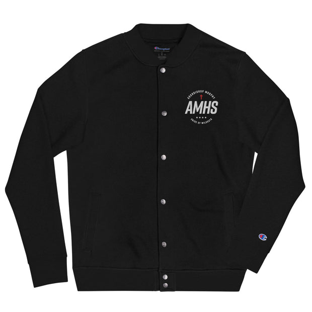 AMHS 'Excellence' embroidered Champion® bomber jacket