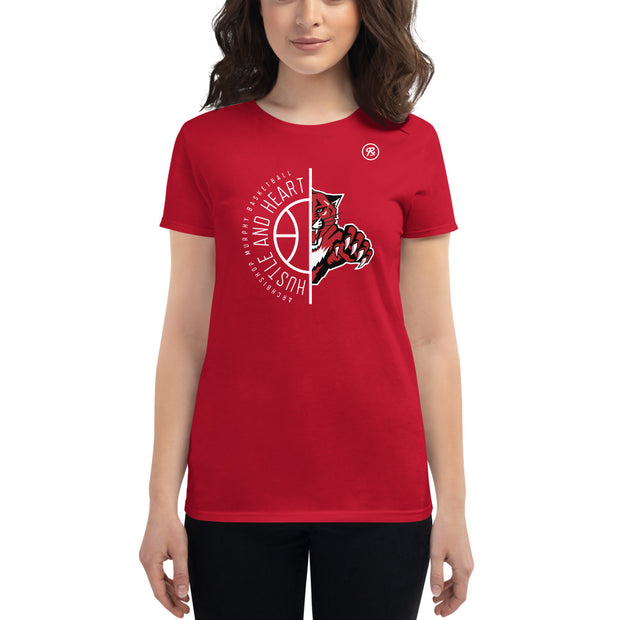 AMHS 'Hustle & Heart' Wildcat women's t-shirt