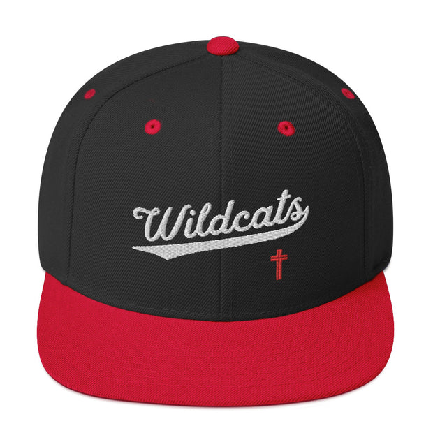 AMHS 'VNTG ATHL' snapback hat (black/red)