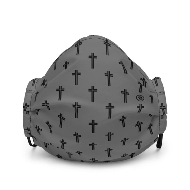 'The Cross' premium washable face mask (b/g)
