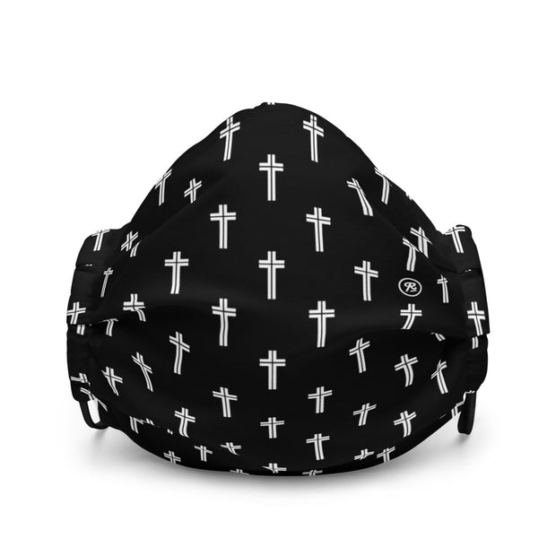 'The Cross' premium washable face mask (w/b)