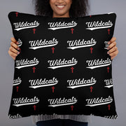 AMHS 'VNTG ATHL' black basic pillow