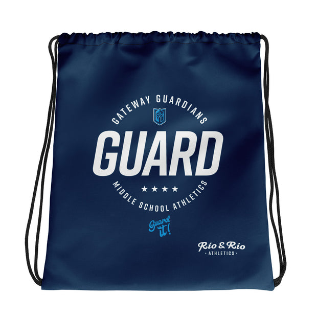 Gateway 'Excellence' dark blue cinch bag
