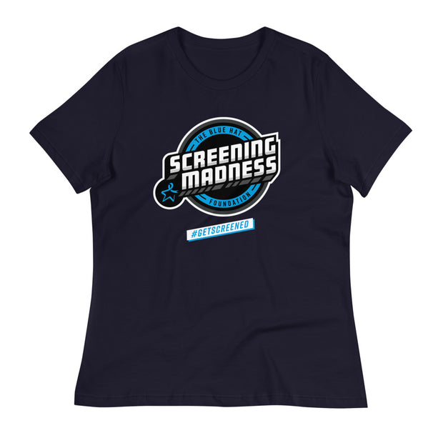 The Blue Hat Foundation 'Screening Madness' women's relaxed t-shirt