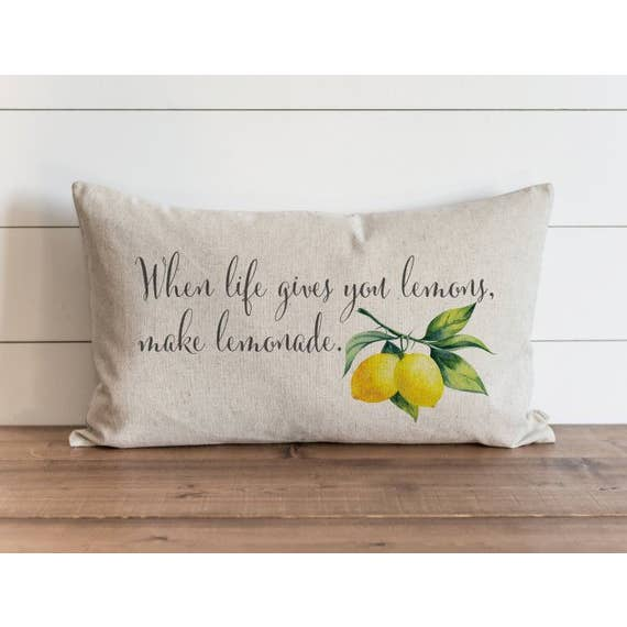 When Life Gives You Lemons Make Lemonade Pillow Cover - Cori's Vintage Corner