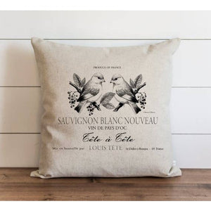 French Label Pillow Cover - Cori's Vintage Corner