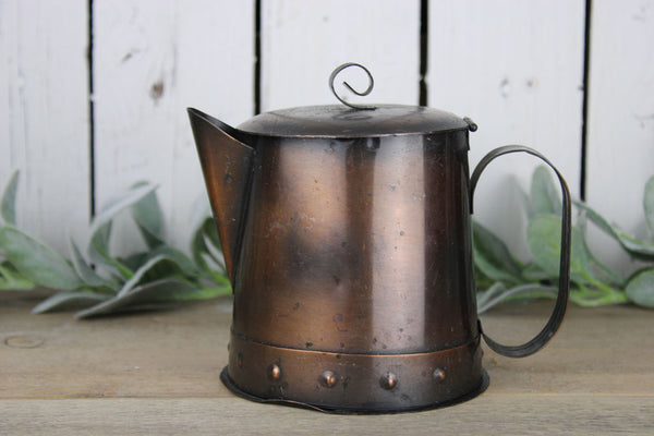 Decorative Copper Coffee Pot
