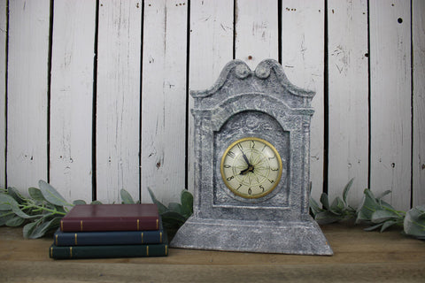Faux Concrete Mantel Clock