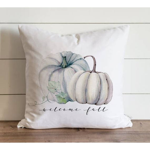 Welcome Fall Pumpkins Pillow Cover - Cori's Vintage Corner