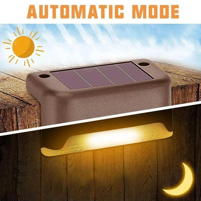 Waterproof Solar LED Stair Light Outdoor Lights smartsaker