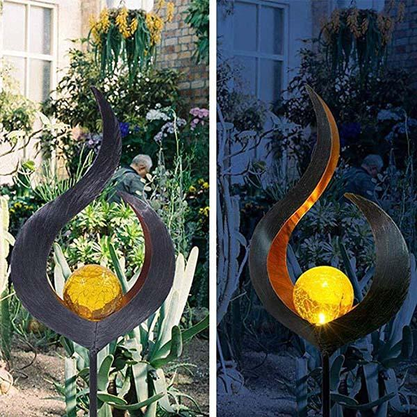Garden Solar LED Crackle Waterproof Light OUTDOOR LIGHTS Smart saker Type1