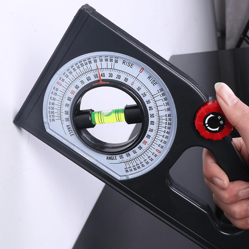 Slope Horizontal Vertical Angle Bevel Protractor Declinometer TEST & MEASURE smartsaker