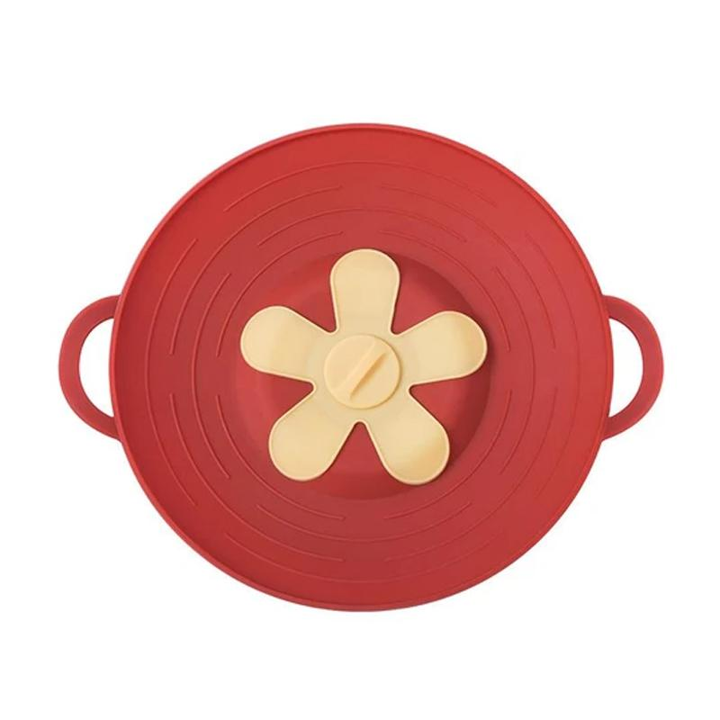 Silicone Anti-overflow Pot KITCHEN TOOLS Smart saker RED 1 PC