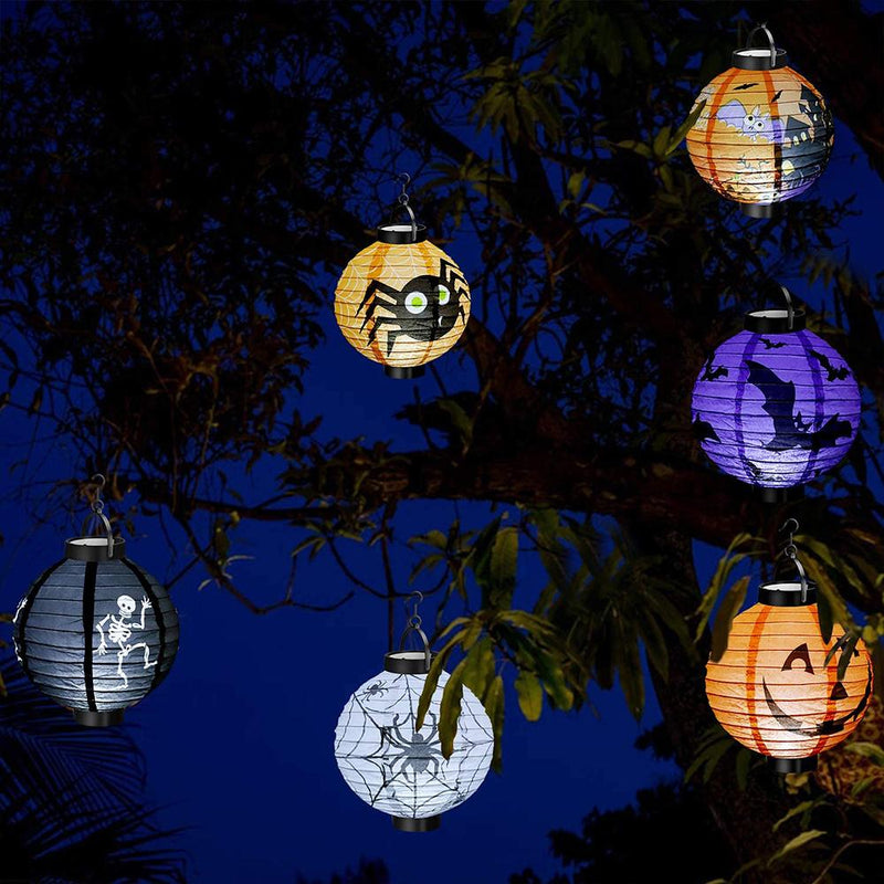 Halloween Hanging Paper Lanterns 6Pcs HOME DECORATIVE LAMPS Smart saker