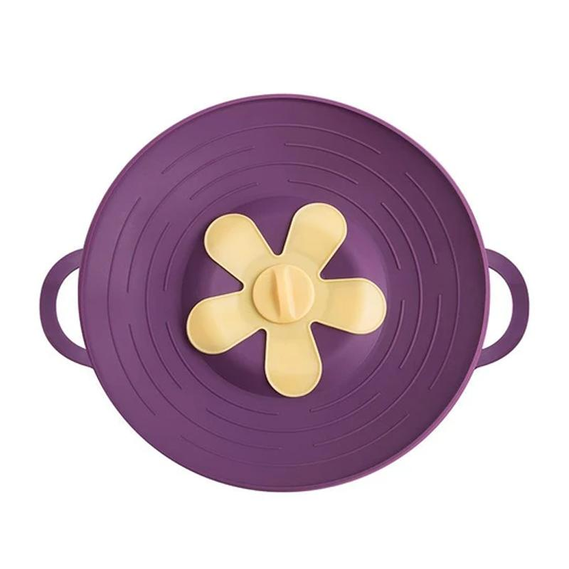 Silicone Anti-overflow Pot KITCHEN TOOLS Smart saker PURPLE 1 PC
