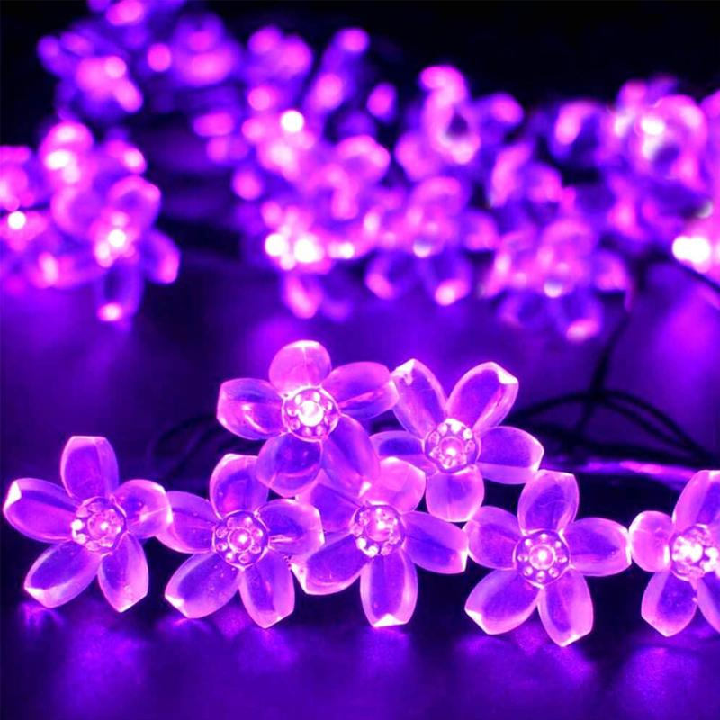 Solar-Powered String Lights (Blossom Flower) OUTDOOR LIGHTS Smart saker Purple